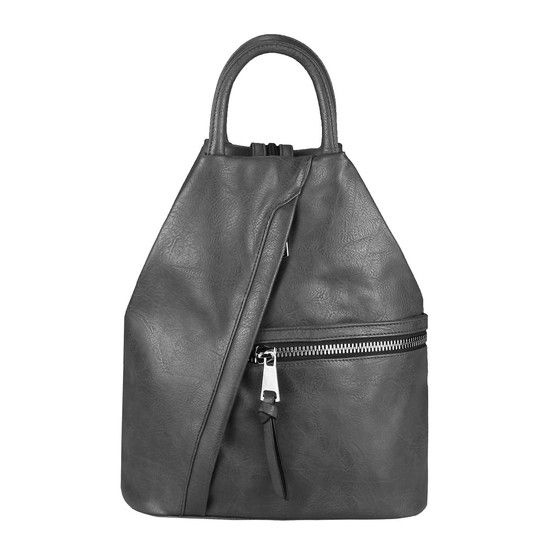 Photo of OBC ladies backpack bag shoulder bag leather look daypack backpack handbag daypack city backpack dark gray.