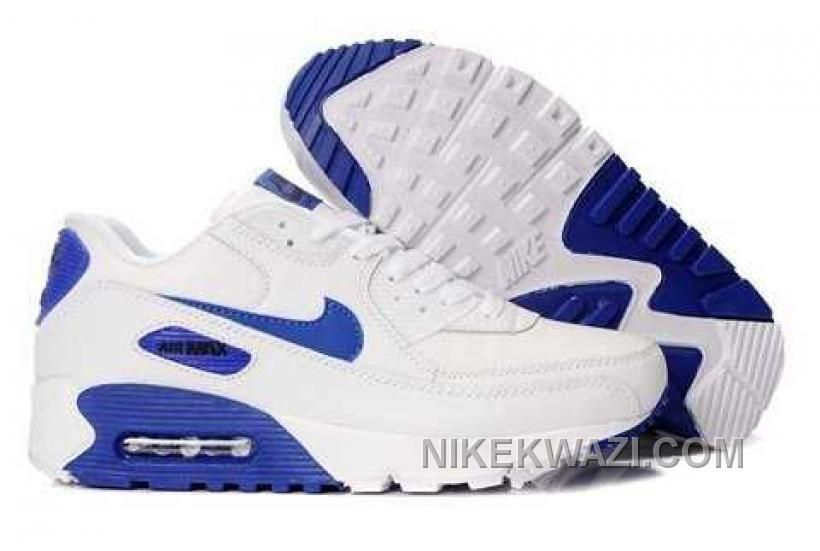 http://www.nikekwazi.com/nike-air-max-90-men-white-blue.html NIKE AIR MAX 90 MEN WHITE BLUE Only $82.00 , Free Shipping!