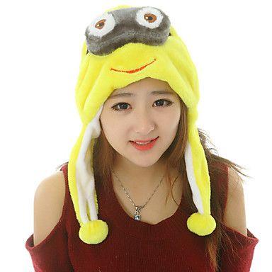 Unisex Lovely Minion Warm Fuzzy Kigurumi Aminal Beanie