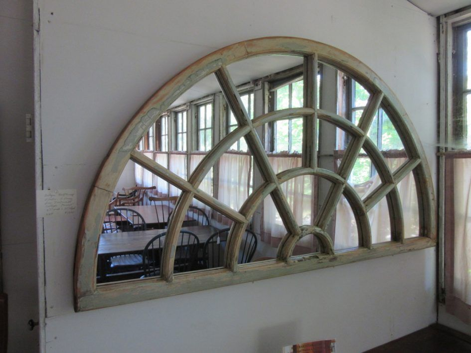 Firebrandcattery Creating Oversized Wall Mirrors: Home Decor Arched Mirror With Panes Wall Mirror Bathroom
