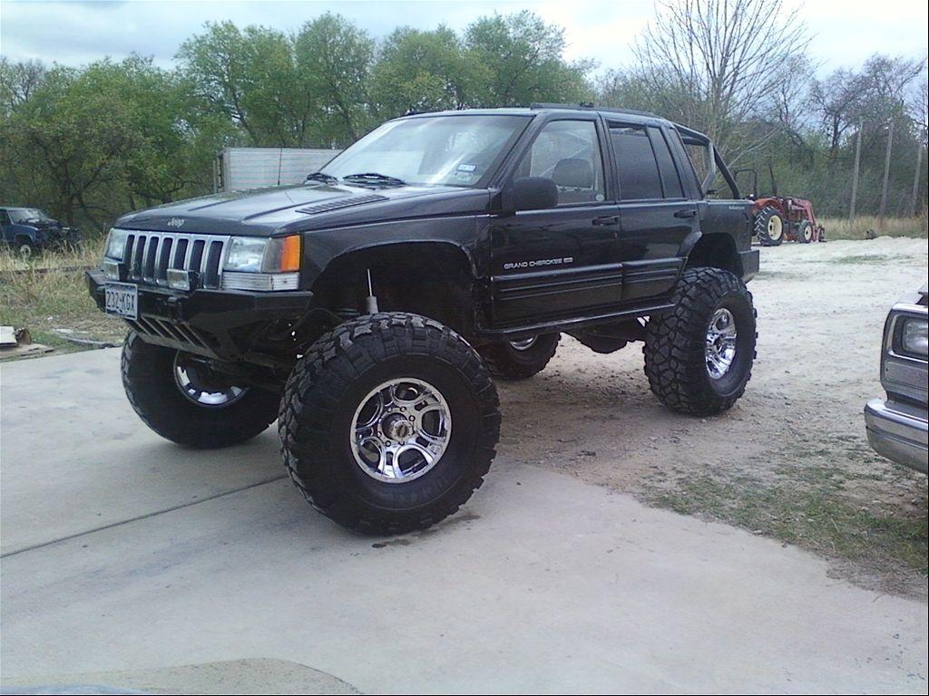 """offroad custom trucks 1998 Jeep Grand Cherokee """"Darth"""