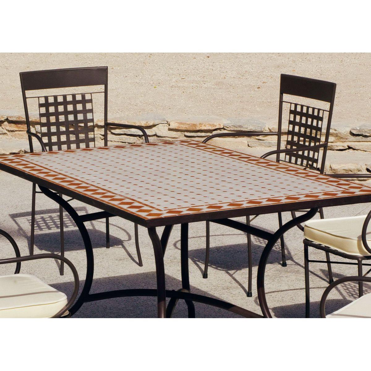 Salon De Jardin Mosaique Table Rectangulaire Atrium Vigo Taille