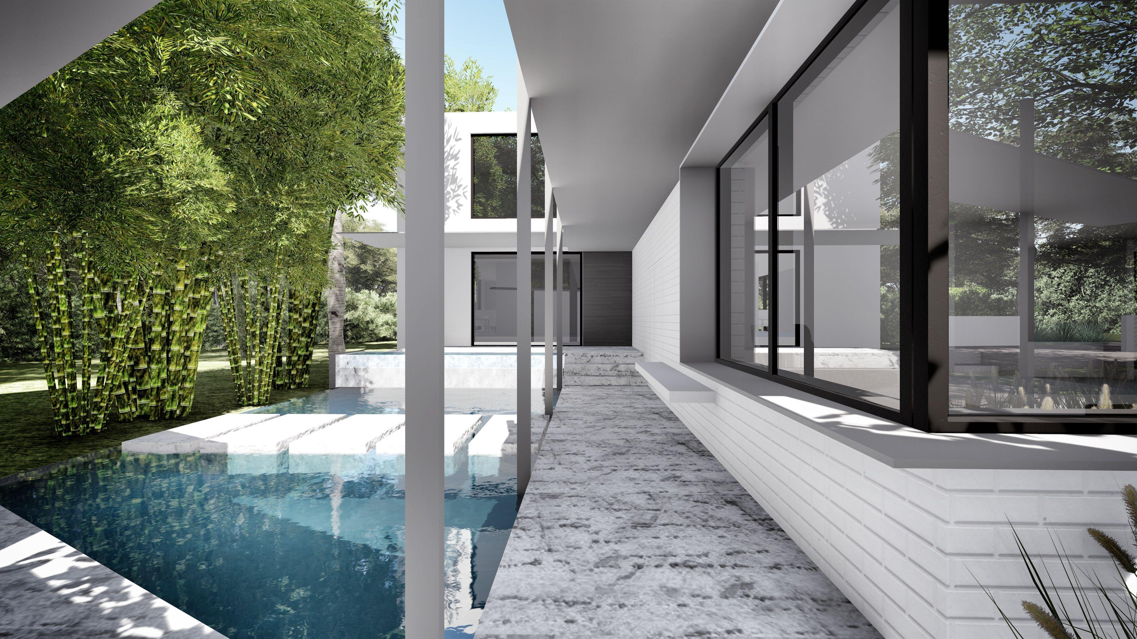 Modern Backyard In Coral Gables Florida Design By Koda Miami Pool
