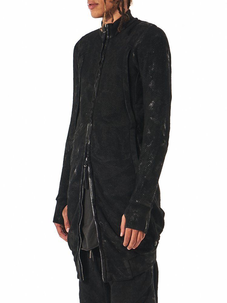 BORIS BIDJAN SABERI - Crushed Wax Long Jacket - ZIPPER3 F0511M-R C4 - H. Lorenzo