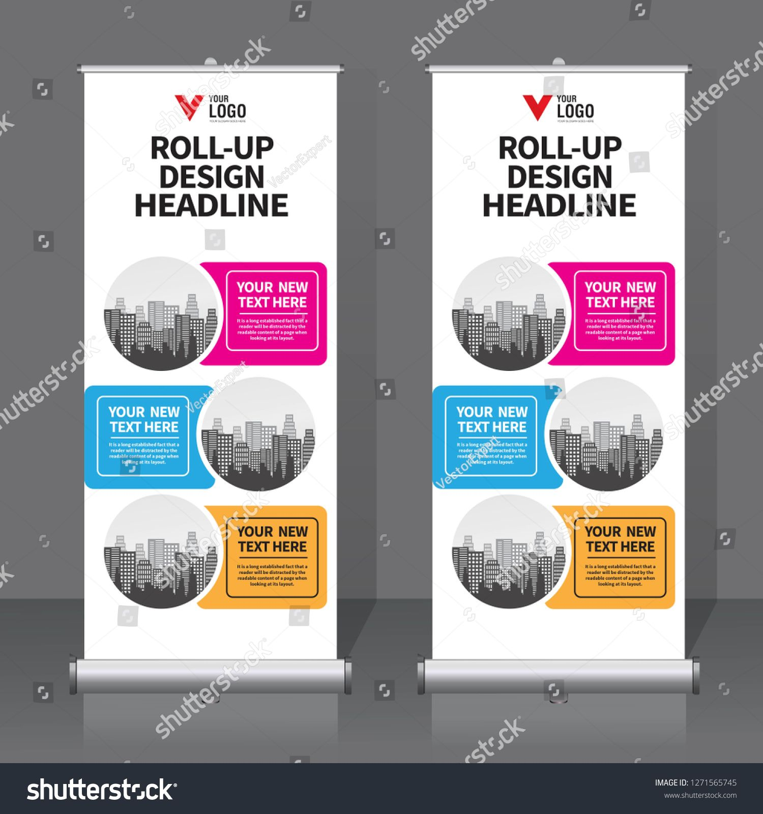 Roll Up Banner Design Template Vertical Abstract Background Pull Up Design Modern X Banner Rectangle Banner Template Design Banner Design Design Template