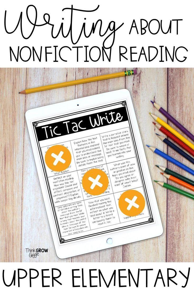 Nonfiction Digital Reading Response Choice Board