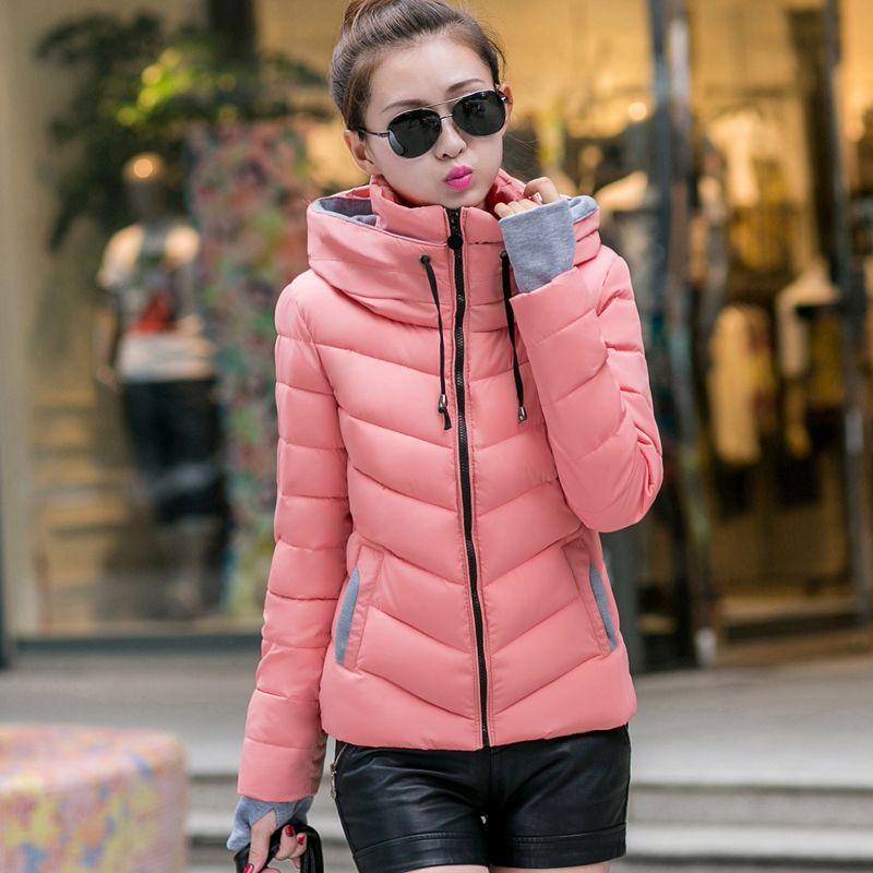 ef45c768683 Encontrar Más Parkas y Plumas Información acerca de Desgaste nieve wadded  chaqueta para mujer 2015 chaqueta de primavera e invierno mujeres corto  abrigo ...