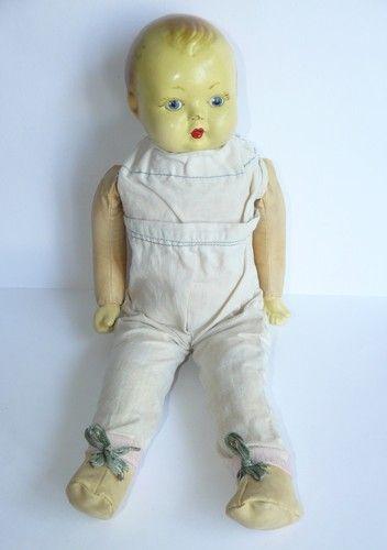 1930s ESTONIA Vintage Doll w/ Closable Eyes