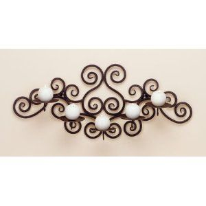 5 Candle Holder Swirl Wall Sconce