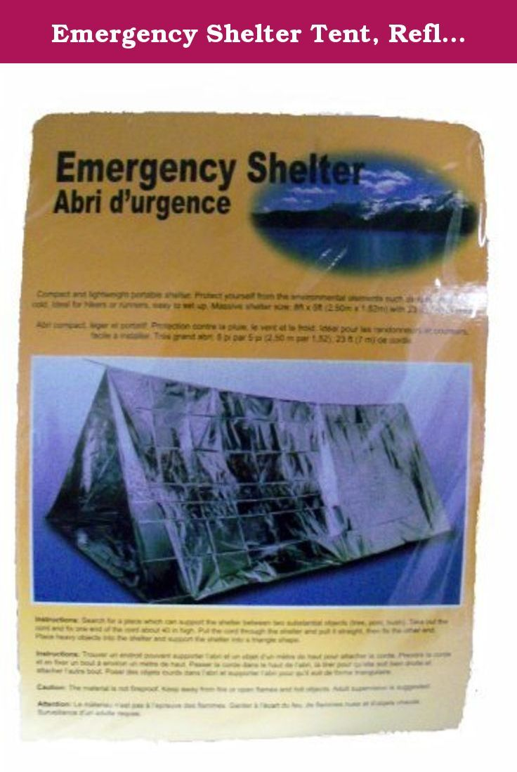 Emergency Shelter Tent Reflective Tube Tent Cold Weather Emergency Shelter 8 ft x 5 & Emergency Shelter Tent Reflective Tube Tent Cold Weather ...