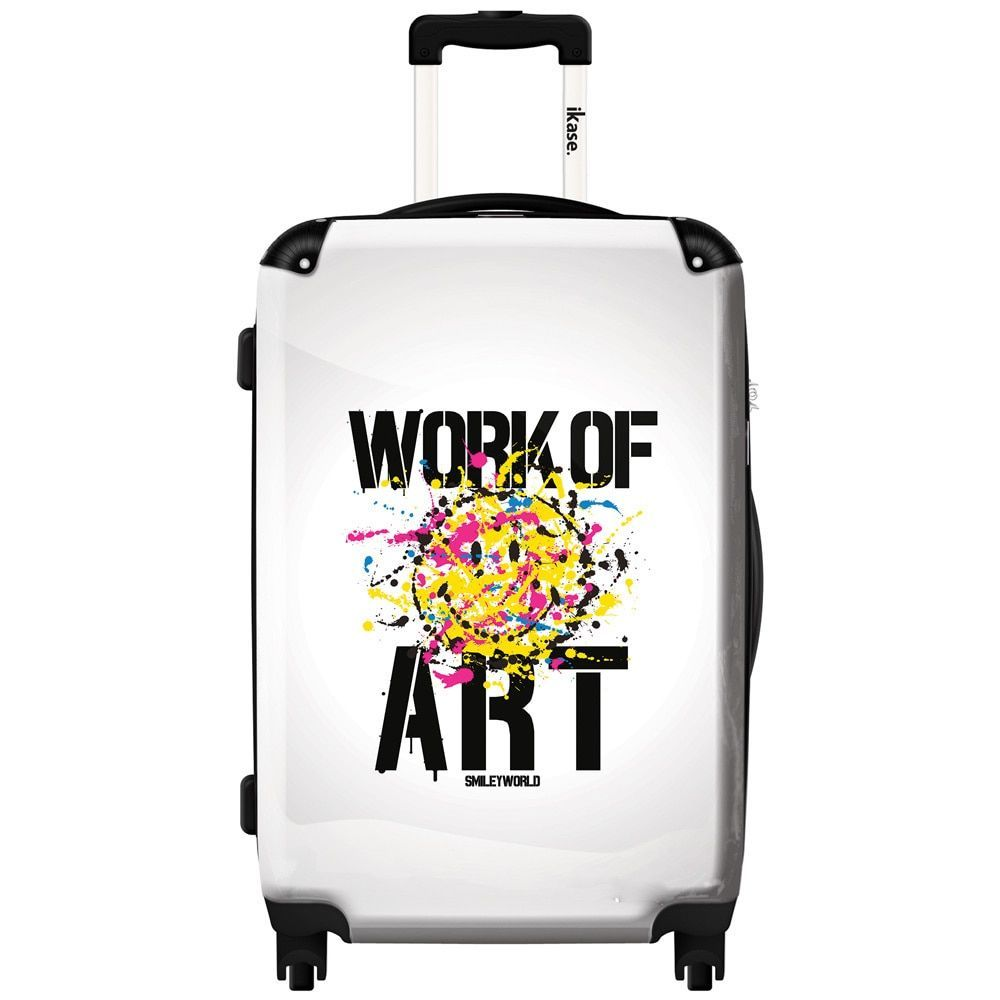iKase Work of Art by Smiley 24-inch Hardside Spinner Upright Suitcase