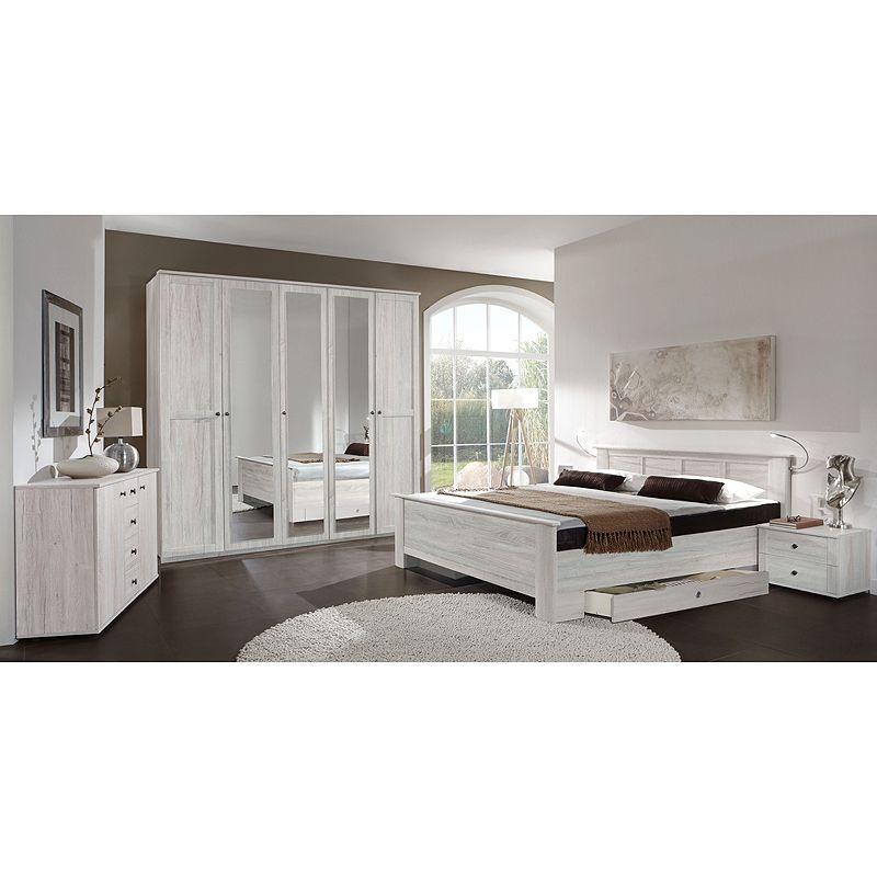 Schlafzimmer Set CHALETO166 Weißeiche Jetzt bestellen