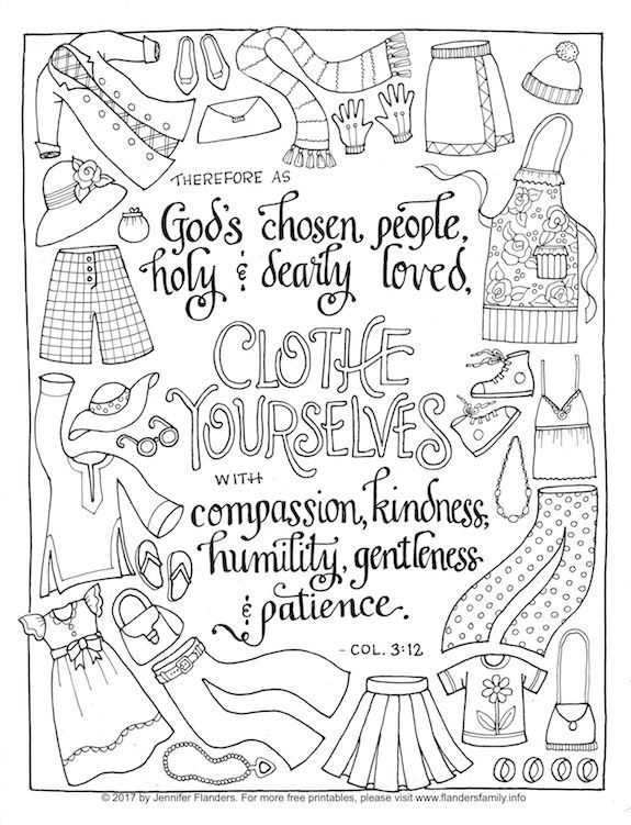 Clothe Yourself With Humility Coloring Page Bible Verse Coloring