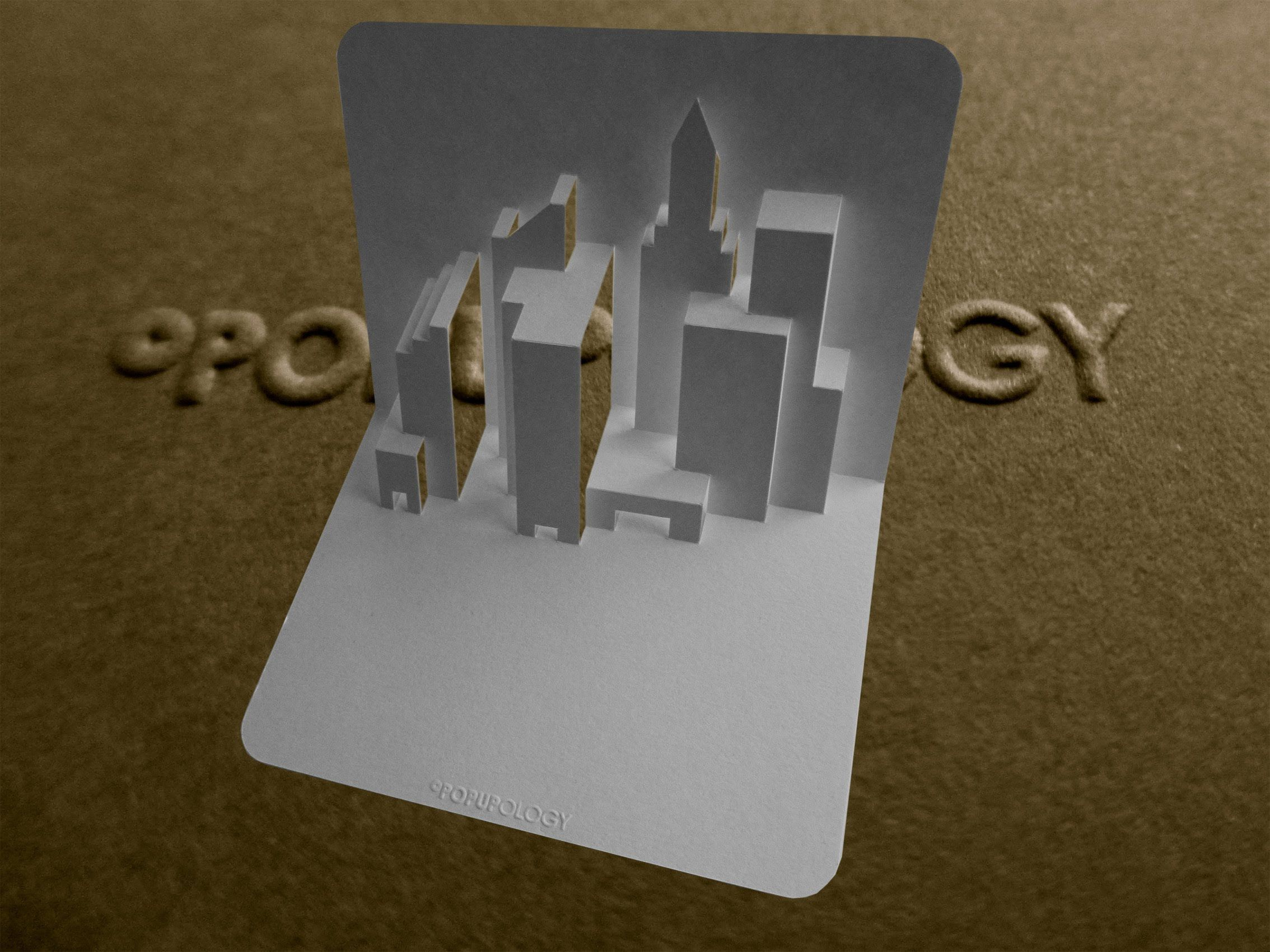 Pop Up New York Skyline Card Tutorial Origamic Architecture Pop Up Card Templates Pop Up Art Pop Up Cards