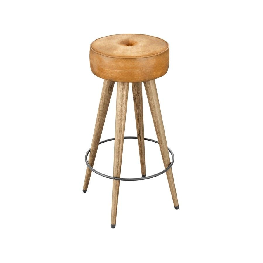 Brilliant Malibu High Stool Upholstered In Bruciato Tan Za 522St Squirreltailoven Fun Painted Chair Ideas Images Squirreltailovenorg