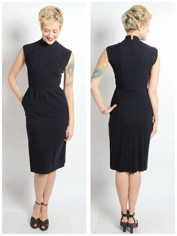 robe des années 1940 / / robe de Marlena gaine / / laine vintage 40 ...