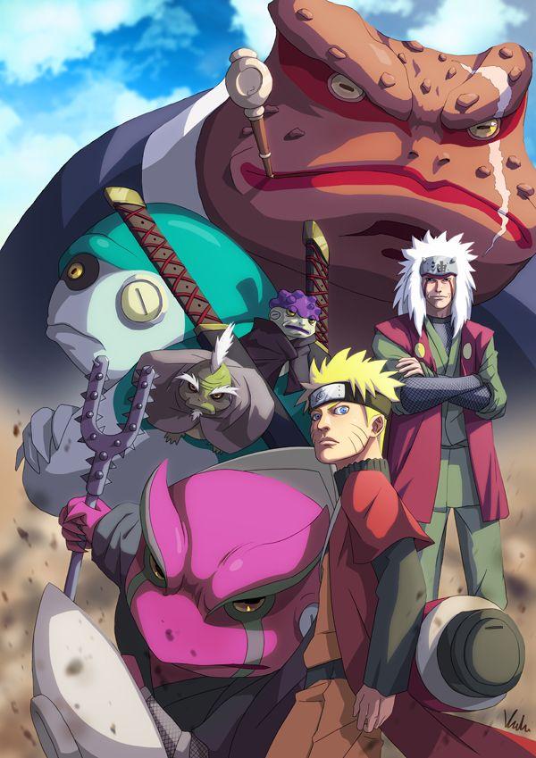 Jiraya e Naruto