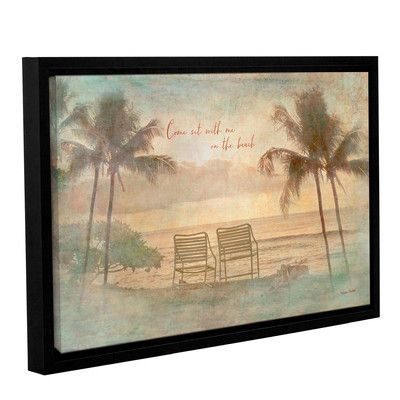 """Bay Isle Home Sit with Me Framed Photographic Print on Gallery Wrapped Canvas Size: 16"""" H x 24"""" W x 2"""" D"""
