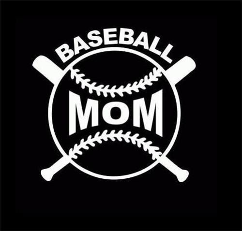 Baseball mom vinyl car computer window decal