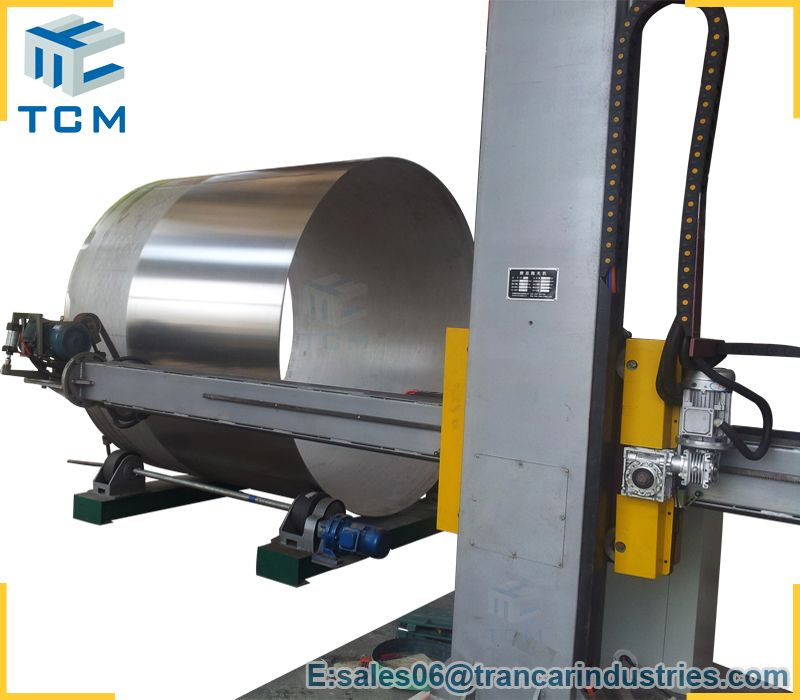 Stainless Steel Tank Outer Surface Polishing Machine From Trancar Industries Stainless Steel Tanks Steel Stainless Steel