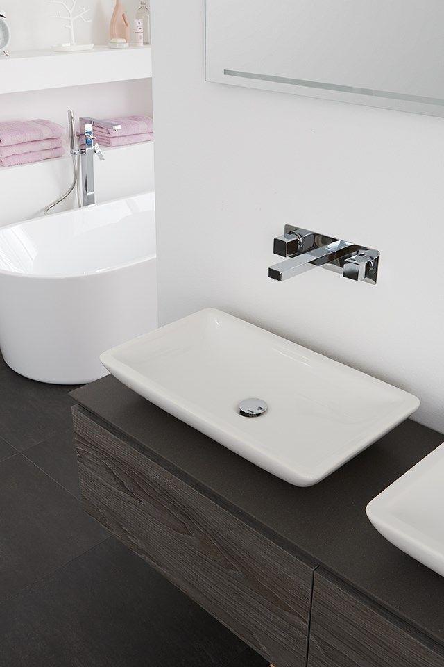 Rechthoekige opbouw wastafel voor in de badkamer. Opbouw wastafel op ...
