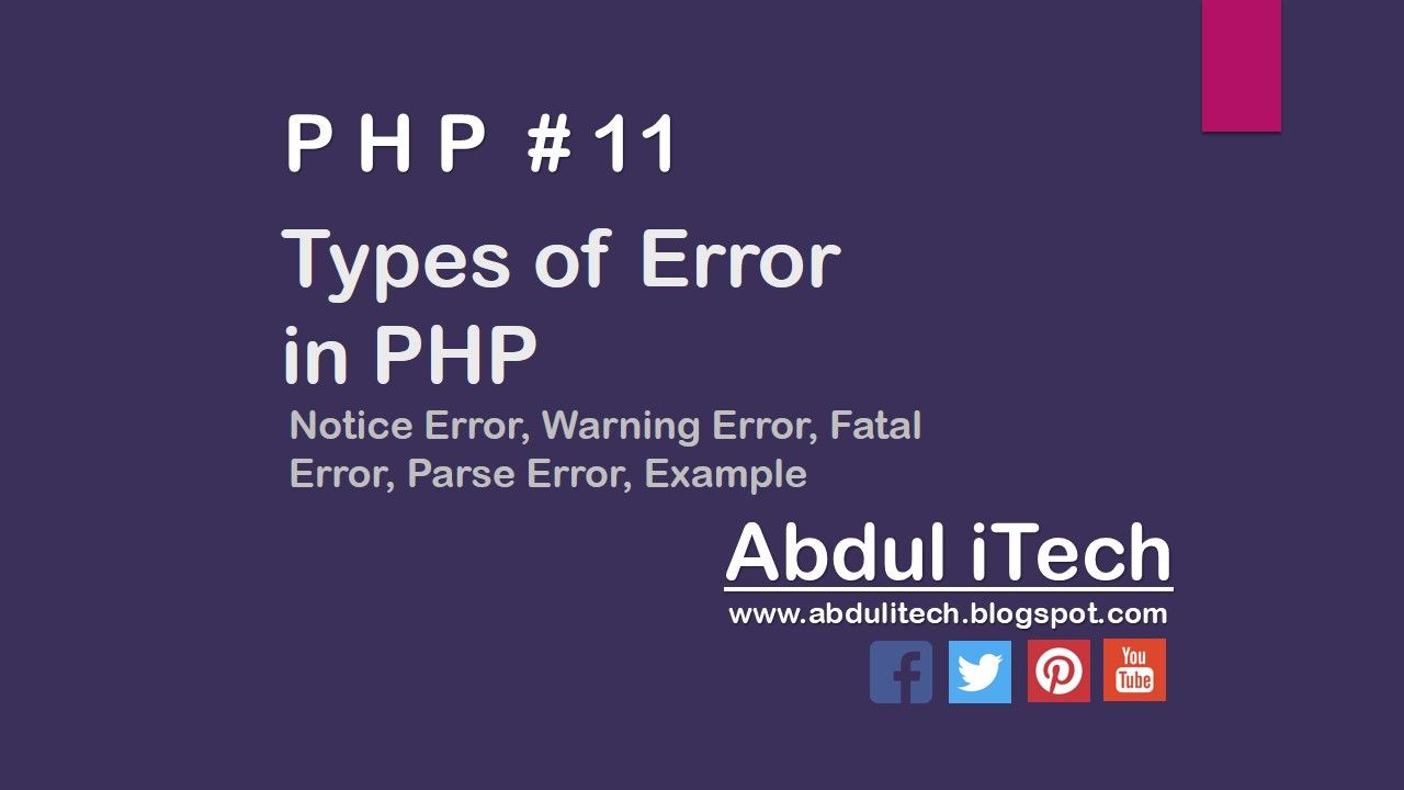 Types Of Errors In Php Php Type Error