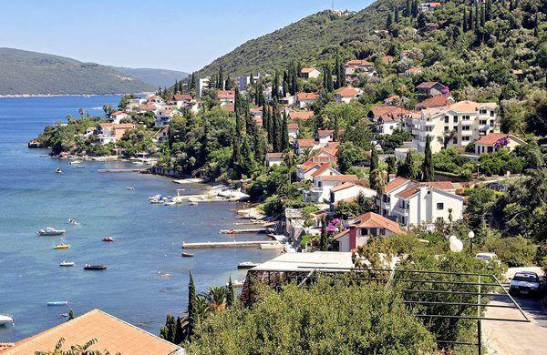 View to the bay in Herceg Novi-Njivice, Montenegro