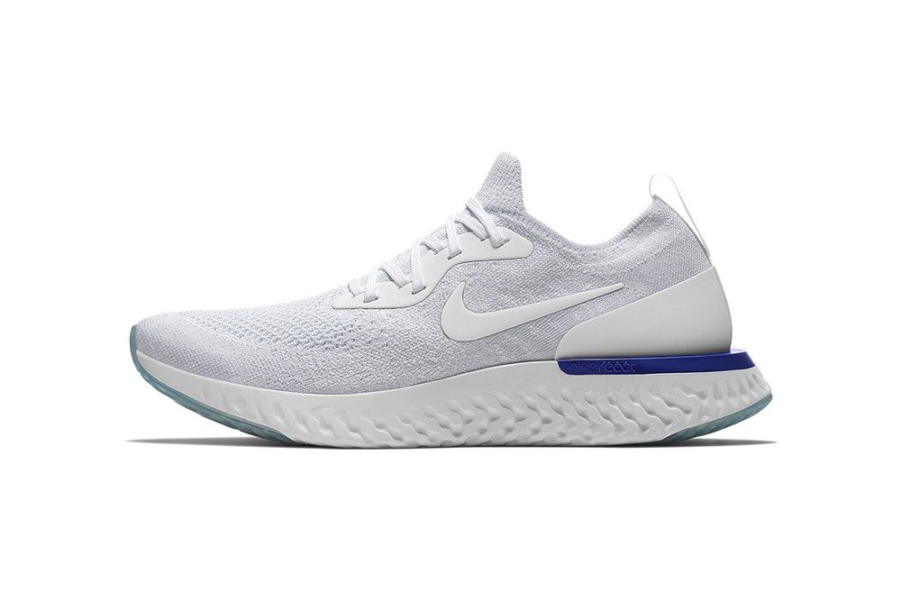 Nike Epic React Flyknit Collegiate Navy on feet (AQ0067-400) (2)   Sneakers    Pinterest   Adidas and Navy