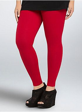 18a7eae480a84f <p>A bright red hue, just in time for the holidays! The cheery color goes  casual on these full length leggings. With a top to bottom tapered fit and  thicker ...