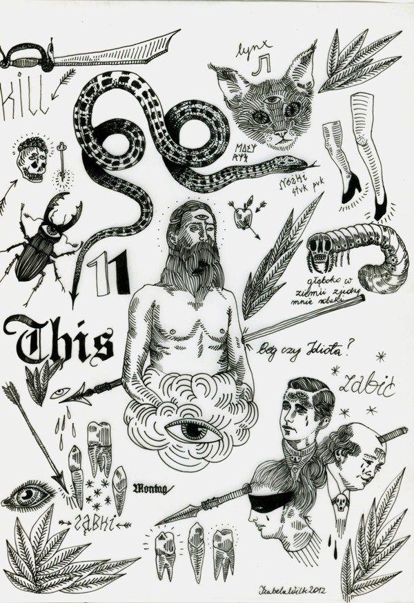 Flash Sheet Tattoo Designs On Behance Dark Tattoo Tattoo Flash Sheet Tattoo Design Drawings