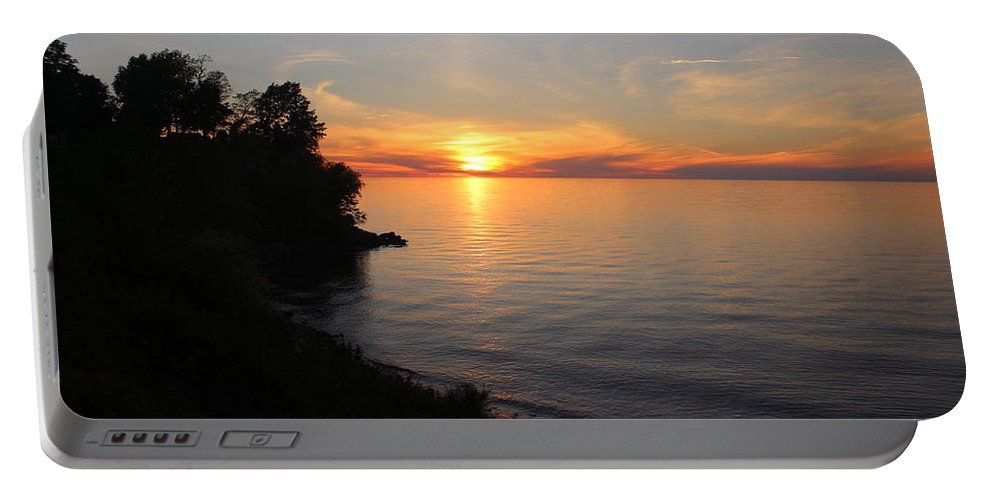 Lake Ontario Portable Battery Charger featuring the photograph Lake Ontario Sunset by Becca Buecher