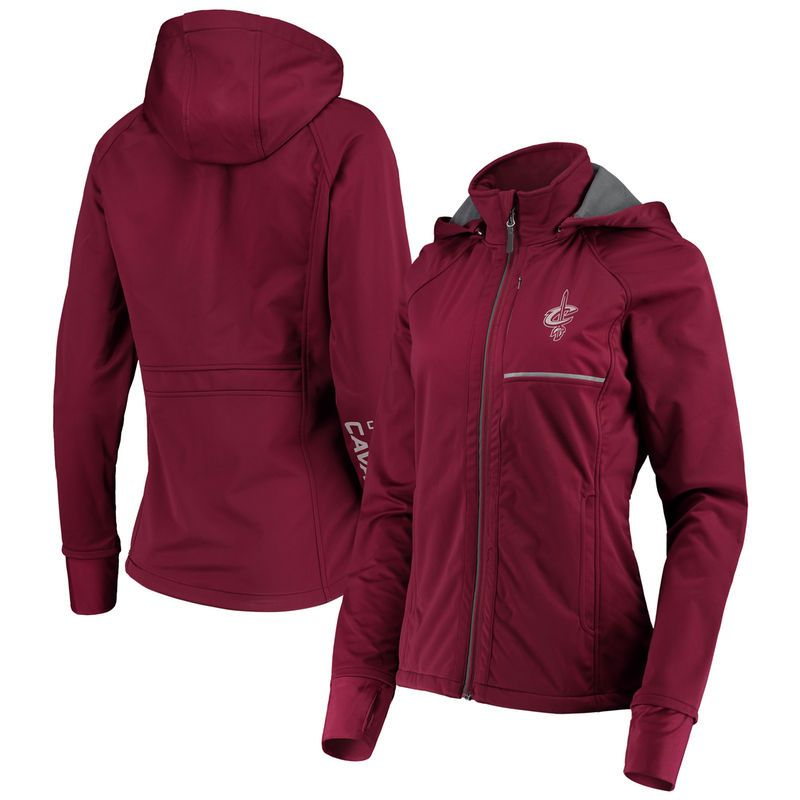 Cleveland Cavaliers G-III 4Her by Carl Banks Women s Cut Back Soft Shell  Full-Zip Jacket – Wine 25922d62c