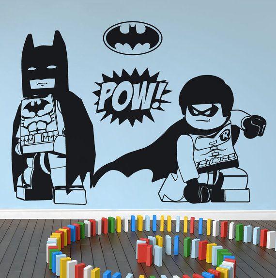 Lego Batman Robin X Large Wall Art Stickers By Nsvinyls On Etsy
