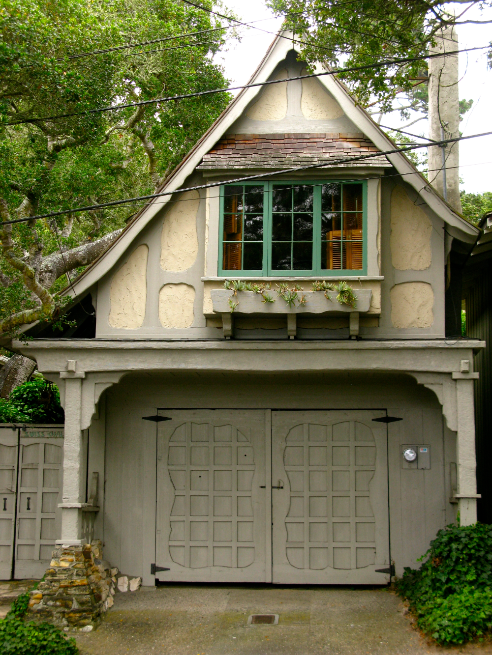 EVEN THE GARAGES IN CARMEL ARE CHARMING