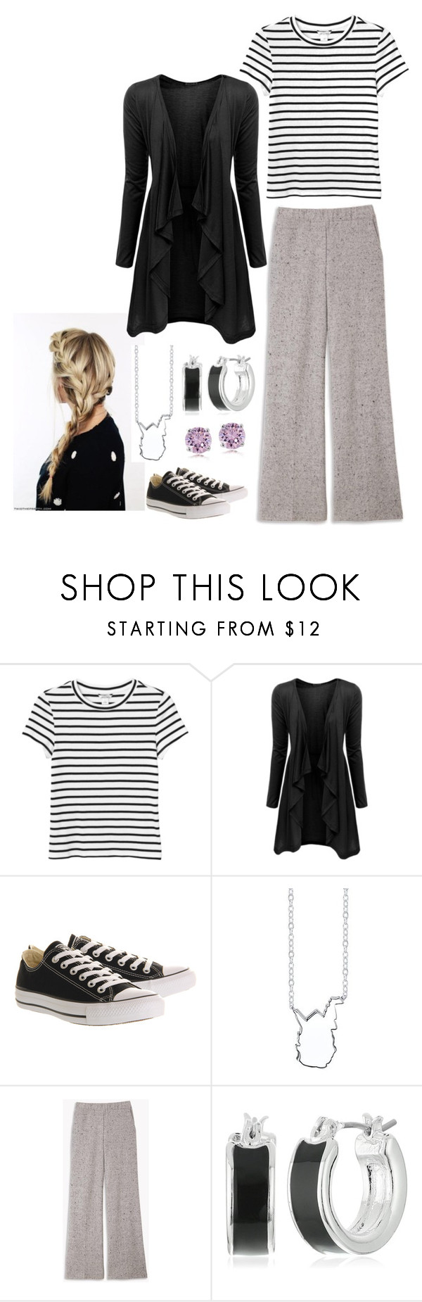 """""""Thursday"""" by mountain-girl-lynn ❤ liked on Polyvore featuring Monki, Doublju, Converse, Bridge Jewelry and Napier"""