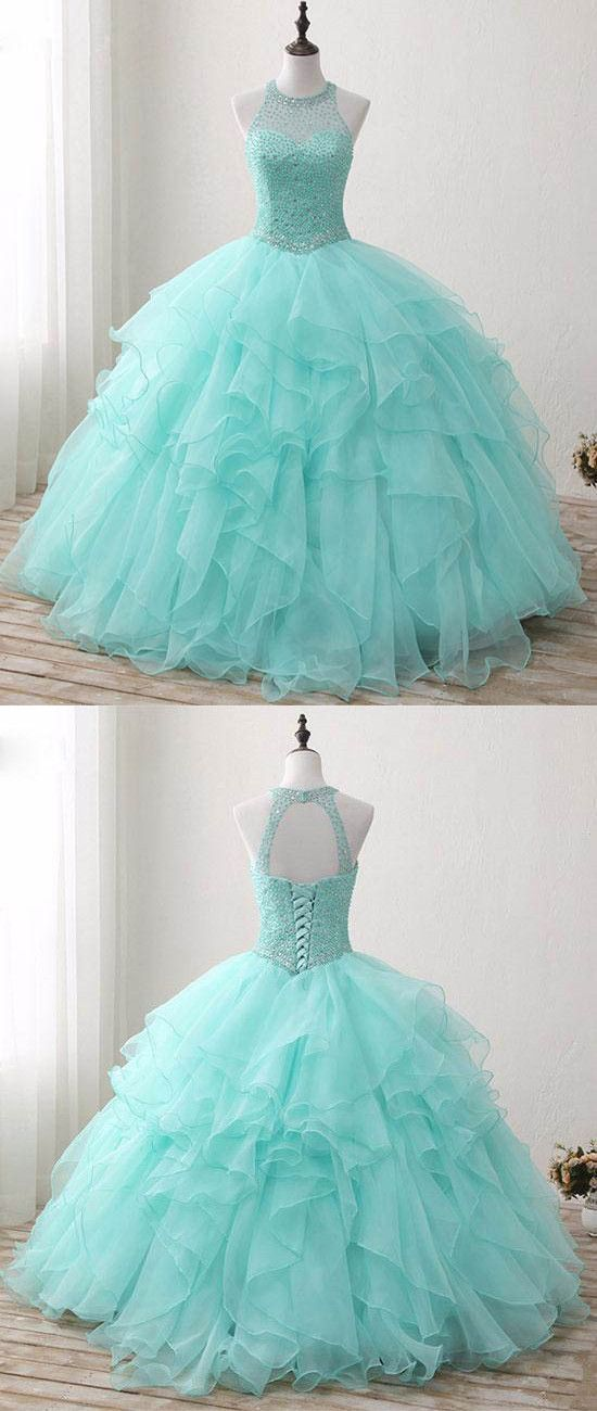 O-Neck Beading A-Line Prom Dresses,Long Prom Dresses,Cheap Prom Dresses, Evening Dress Prom Gowns, Formal Women Dress,Prom Dress MT20189839