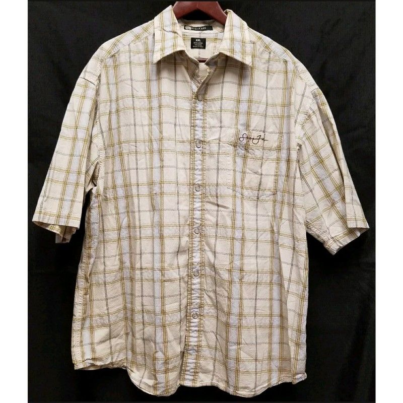 80c58c1f5 Sean John Plaid Shirt XXL | Vinted | Check shirt man, Check shirt ...