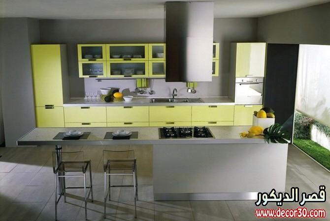 مطابخ الوميتال باروع الاشكال احدث الوان المطابخ الالوميتال Kitchen Design Color Interior Design Kitchen Yellow Kitchen Designs