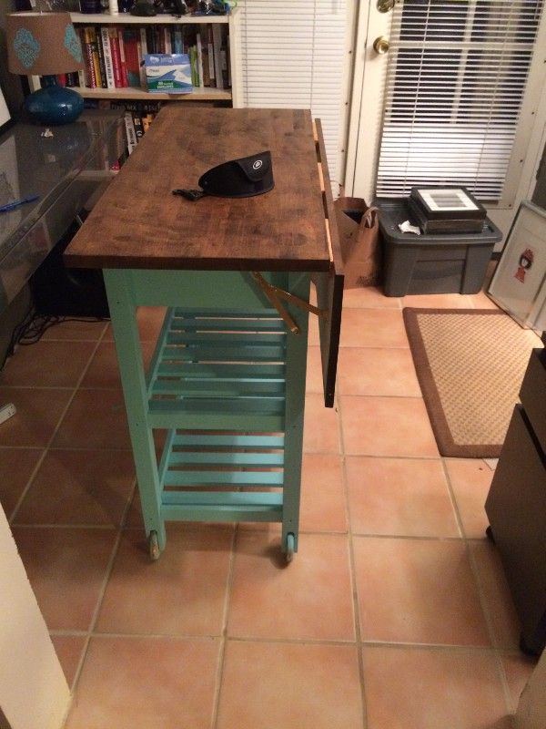 Hacking Ikea S FÖrhÖja Kitchen Cart Use This For An Expandable Crafts Table Workstation