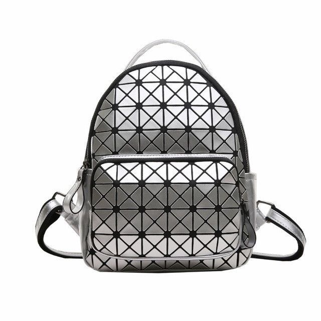GAJIA Women Backpack Feminine Geometric Plaid Sequin Female Backpacks For Teenage  Girls Bagpack Drawstring Travel Geometric Bag 9cdf3de132f68