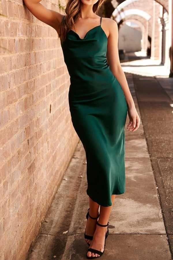 38+ Satin cowl neck dress ideas ideas