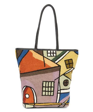 Love this Orange House Leather Tote on #zulily! #zulilyfinds
