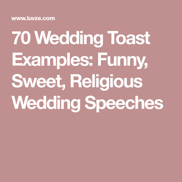 Christian wedding toast