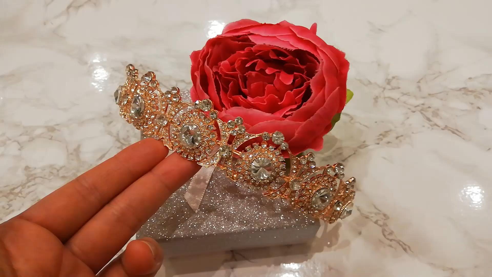 Royal inspired Wedding Tiara, Rose Gold Tiara, Silver Tiara - Bride 2020 - Bride 2021 Bridal trends -   15 makeup Gold brides ideas