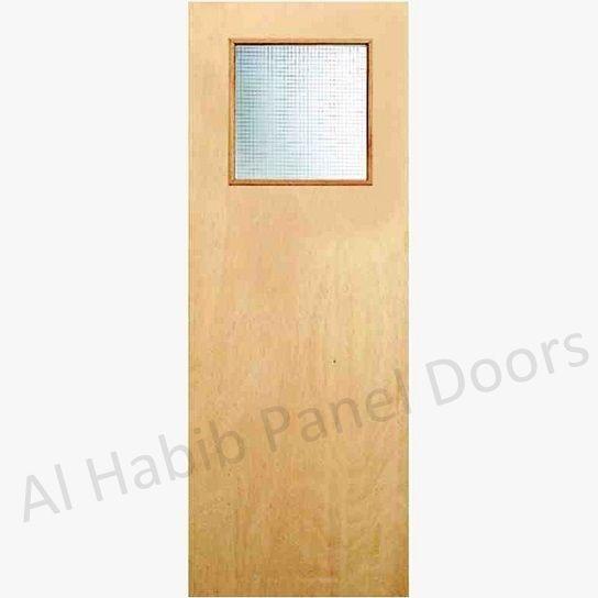 Commercial Ply Flush Door With Glass Hpd535 Commercial Doors Al Habib Panel Doors Flush Doors Glass Door Panel Doors
