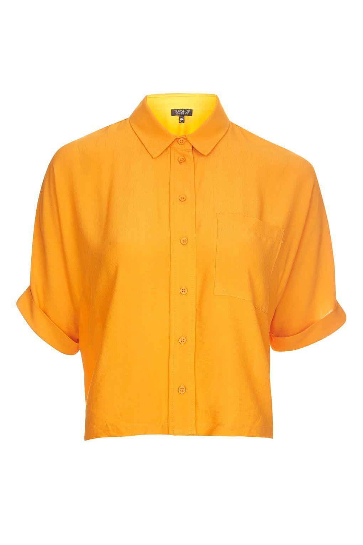 Burnt Orange Mens Tops