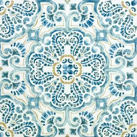 Floorpops 20 Piece 12 In X 12 In Blue Peel And Stick Vinyl Tile Tfp2477 Stick On Tiles Peel And Stick Floor
