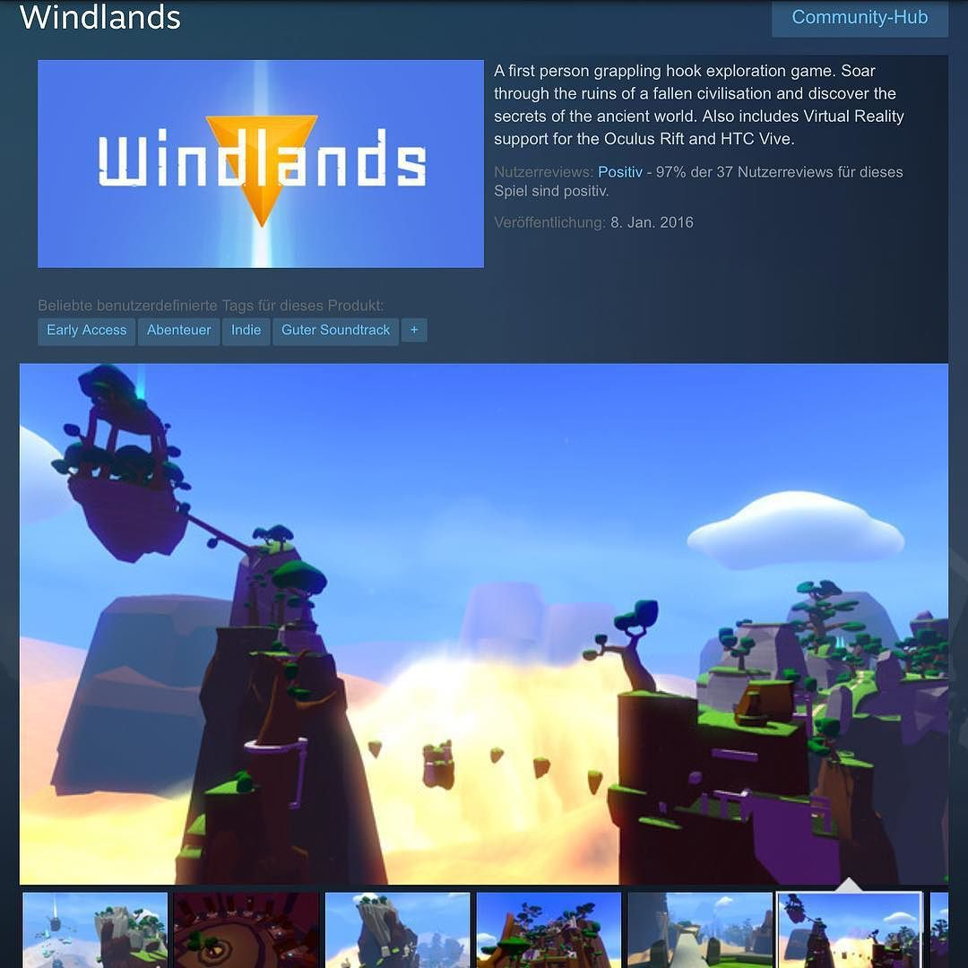 An awesome Virtual Reality pic! WINDLANDS launched on Steam! check the early access with VR support! #windlands #game #games #gaming #gamer #vr #virtualreality #pcgaming #computer #gamepad #steam #oculus #oculusrift #indie #adventure by lostinvr check us out: http://bit.ly/1KyLetq