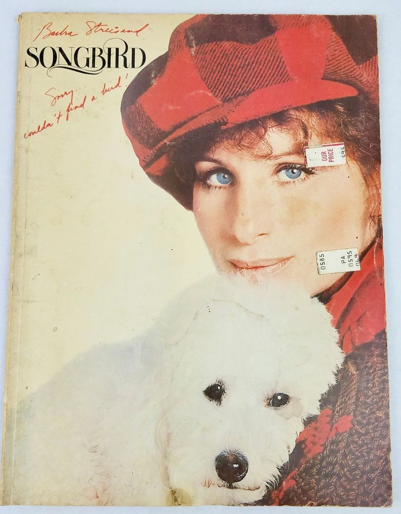 Barbara Streisand Songbird 1978 Sheet Music Book Vintage Guitar ...
