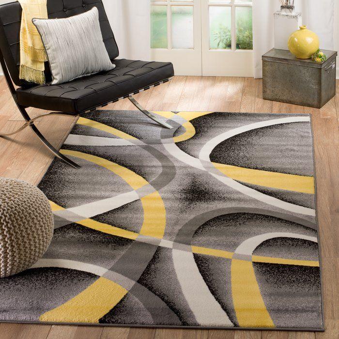 Orren Ellis Gaeta Grey Yellow Indoor Area Rug In 2019